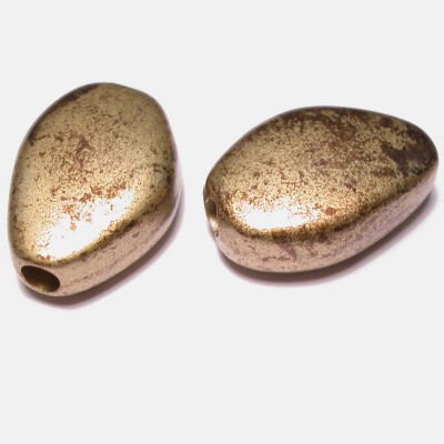 etnisch plat ovaal goud 16x23 mm
