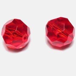 Kraal facet rood 14 mm