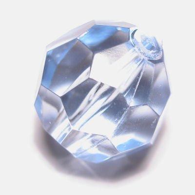 Kraal facet l.blauw 18 mm