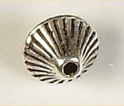 kraal verzilverd fantasie tolletje 7 mm