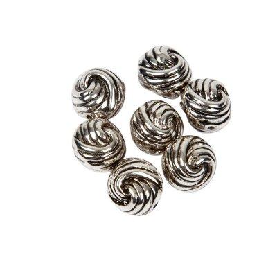 metal look kraal rond 11 mm