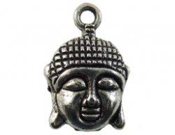 metalen hanger boeddha hoofd 15x22 mm