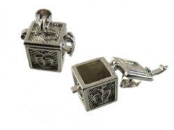 prayer box vierkant zilver 13x12x12 mm