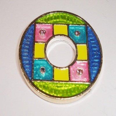 ring div kleuren met strass 34 mm