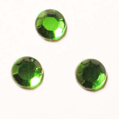 strass plaksteen kristal smaragd 4 mm