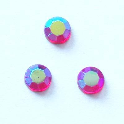 strass plaksteen kristal ruby AB 4 mm
