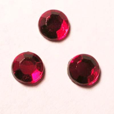 strass plaksteen kristal ruby 5 mm