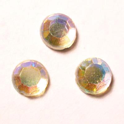 strass plaksteen kristal zilver AB 5 mm