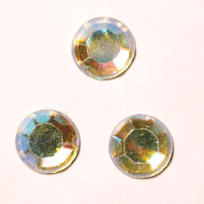 strass plaksteen kristal zilver AB 7 mm