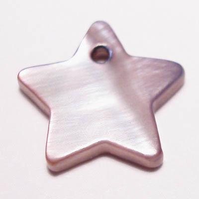 parelmoer hanger ster paars 12 mm