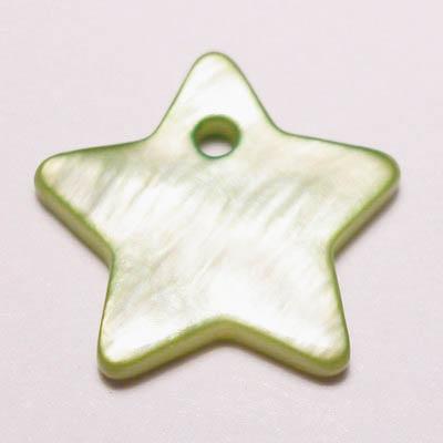 parelmoer hanger ster groen 12 mm