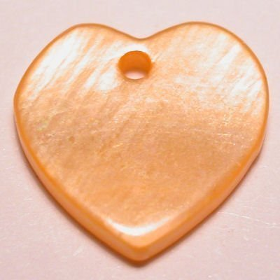 parelmoer hanger hart oranje 12 mm