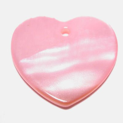 parelmoer hanger hart l.roze 20 mm 20 mm
