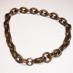 armband met sluiting antiek goud 18 cm