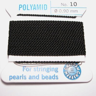 kralenrijgdraad nylon zwart 0,9 mm