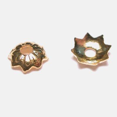 kralenkapje goud 4 mm