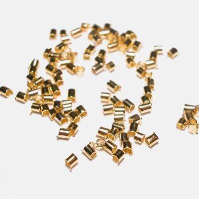knijpkraal metaal goud 2 x 1,5 mm