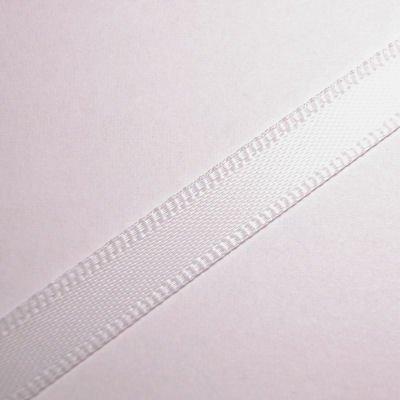 satijnlint 7 mm wit