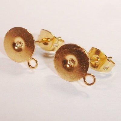 oorsteker goud 8 mm