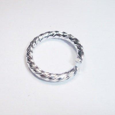 allu. ring rond versierd zilver 15x1,8 mm