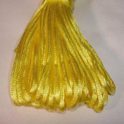 Satijnkoord, 2 mm, geel