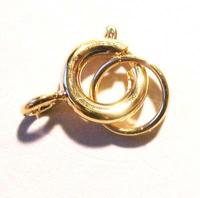 veersluiting met ring goud 6 mm