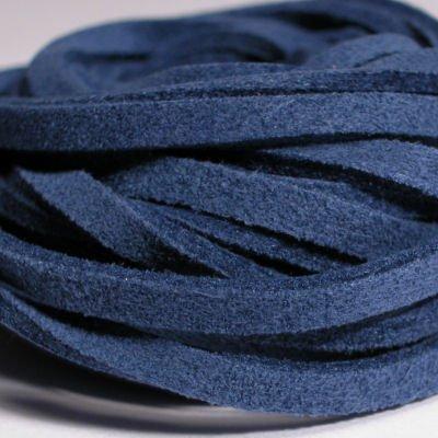 veter kunstsuede d.blauw 3 mm
