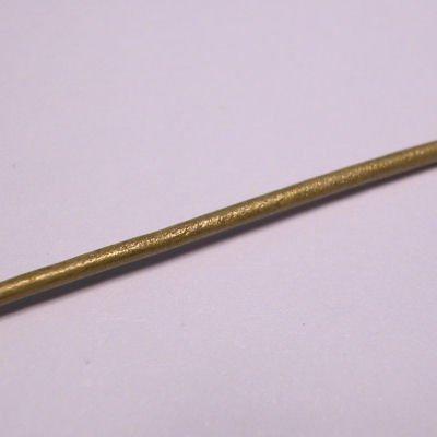 leerveter parelmoer olijfgroen 1,5 mm