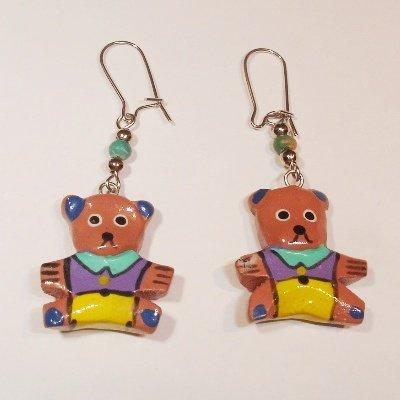 oorbellen beer paars