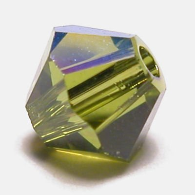 swarovski facet 4mm olivine AB