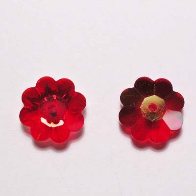 swarovski schijf bloem light siam 10 mm