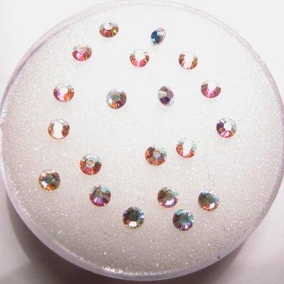 swarovski plaksteen rond crystalAB 2 mm