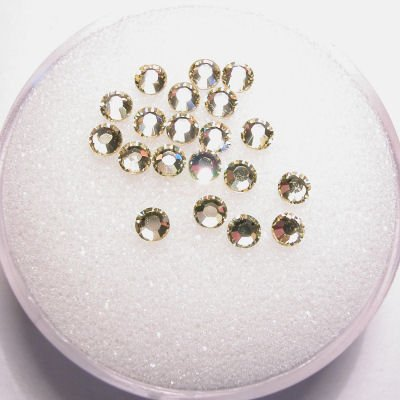 swarovski Plaksteen rond jonquil 3 mm