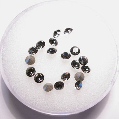 swarovski similisteen rond black diamond 3 mm