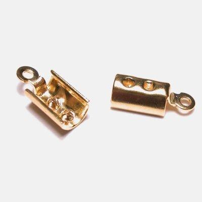 veterklemmetje goud 6x3 mm