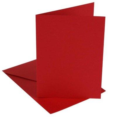 kaart rechthoek rood 10,5x15 cm