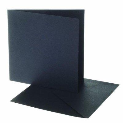 kaart vierkant zwart 12,5x12,5 cm