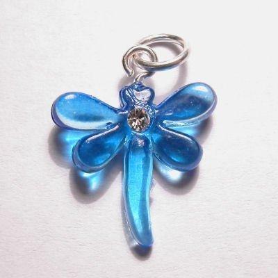 acryl libelle blauw 16x17 mm