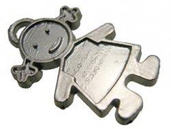 metalen hanger meisje 17 x 25 mm