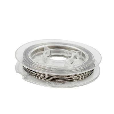 draad acculon zilver kleurig 0,38 mm