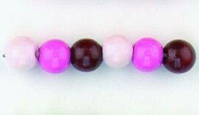 kralen mix roze 8 mm