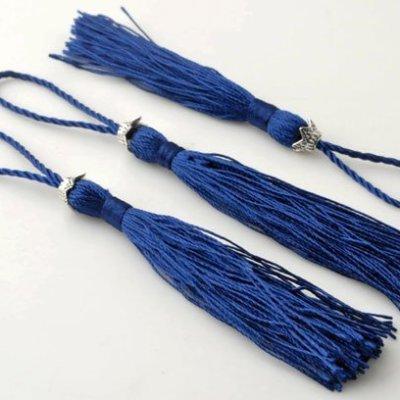 satijn kwastje d.blauw