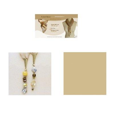 sjaal juweel kit 52x150 cm beige