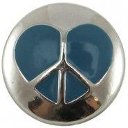 Easy button hart blauw