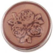 Easy button roos zacht oranje opaal