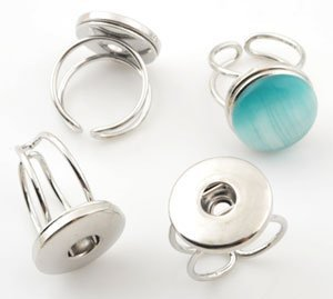 Easy button metalen vingerring