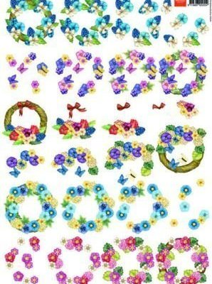 knipvel bloemenkrans