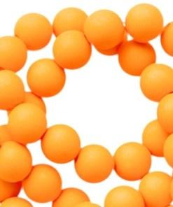 Acryl kralen mat 6mm Oranje tangerine