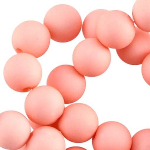 Acryl kralen mat 10mm Rose peach