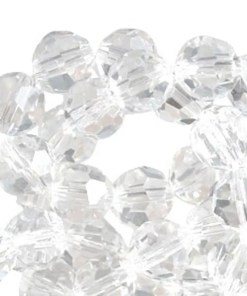 Top Facet kralen rond 12mm Crystal